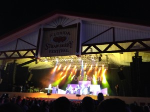 Night time entertainment at the Florida Strawberry Festival