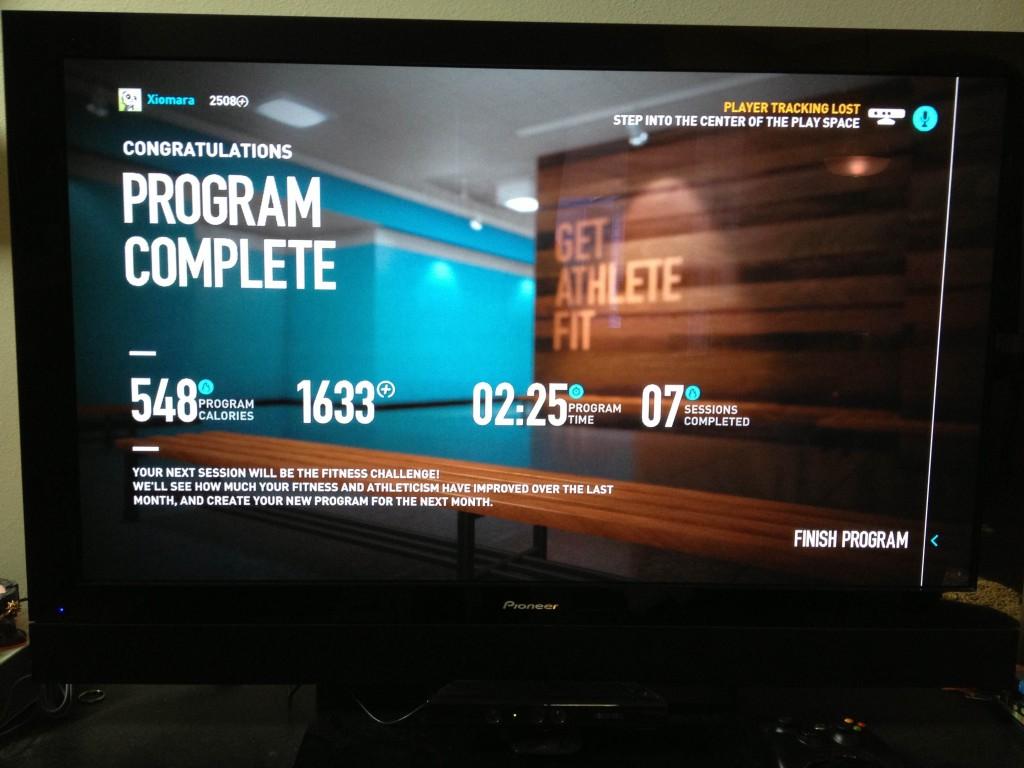 Woohoo! 4 weeks completed on Nike+ Training