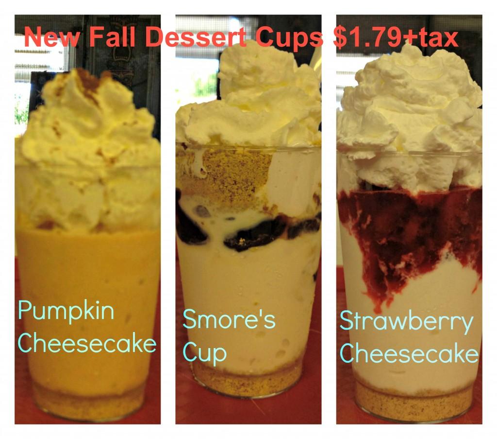 fall dessert menu