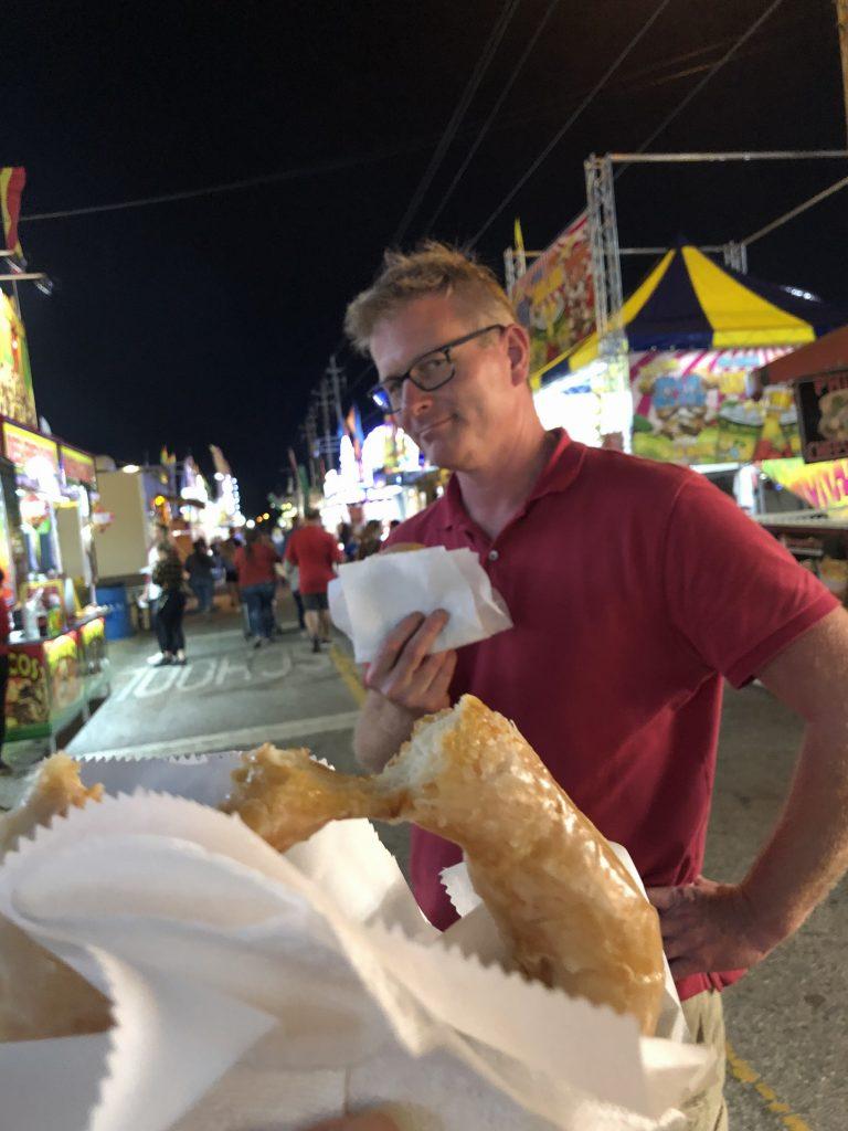 Florida Strawberry Festival and Peachey's Baking company donuts in Plant City, FL.