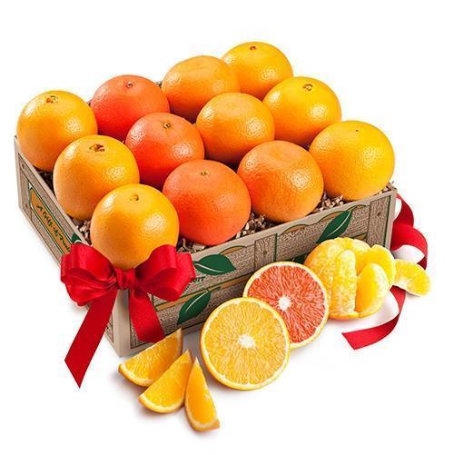 orange citrus basket